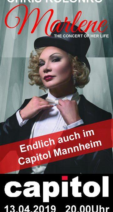 "13.04.2019: CHRIS Kolonko verzaubert mit ""The Concert Of Her Life"" das Mannheimer Publikum"