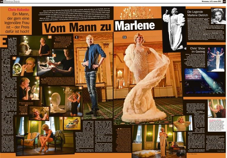 """""""Vom Mann zu Marlene"""": Überwältigender Beitrag in der Münchner tz"""
