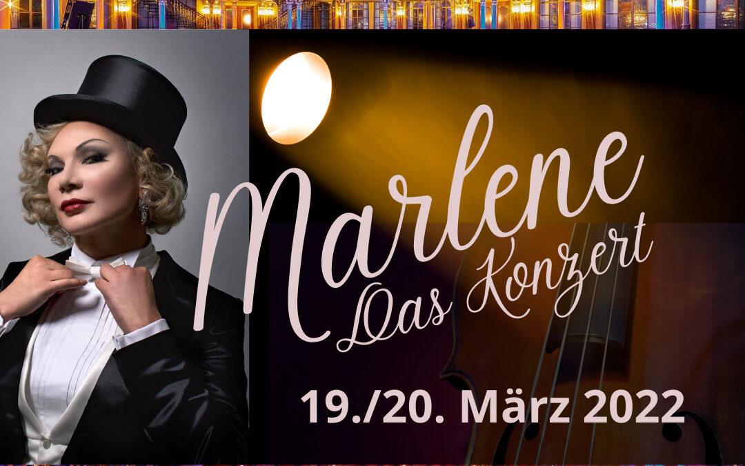 """19./20.03.2021: """"Marlene – Das Konzert"""" im Parktheater im Kurhaus Göggingen"""